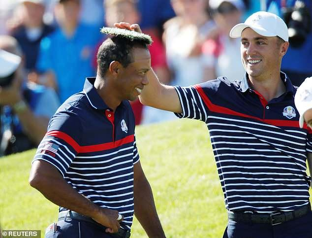 Tiger Woods gets mocked by Ryder Cup team-mates for receding hairline