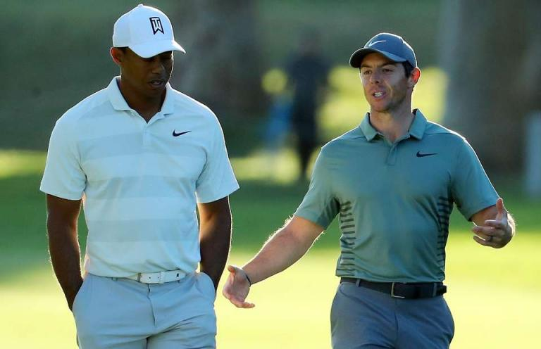 "WATCH: Tiger tells Rory during golf shoot - ""JUST HIT THE DAMN THING!"""