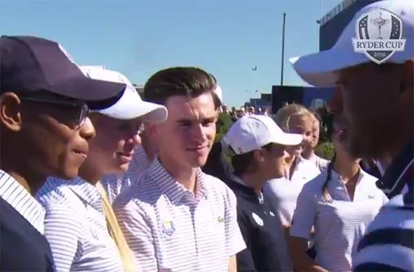 Tiger Woods meets Robin 'Tiger' Williams, and it's absolutely awesome!