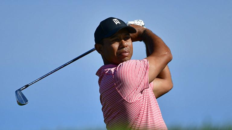 Tiger Woods breaks his Sunday shirt tradition at Torrey Pines