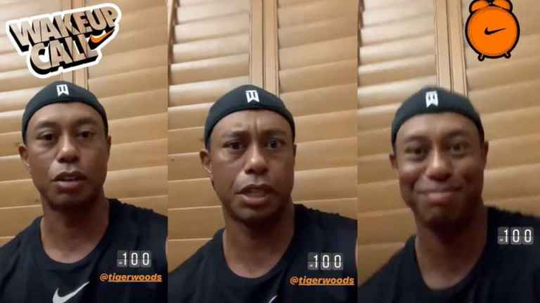 Tiger Woods wakes up in middle of night to prepare for The Open