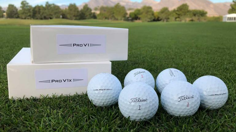 New Titleist Pro V1 and Pro V1x prototype golf balls available to players on the PGA Tour this week.