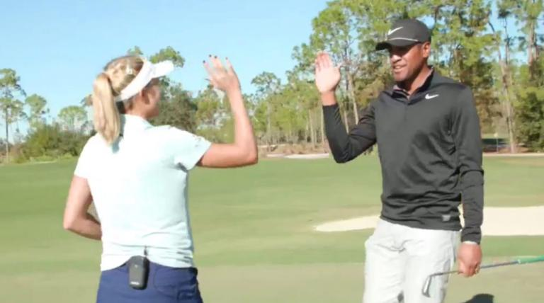 WATCH: Tony Finau and Lexi Thompson in awesome 'one-club challenge'