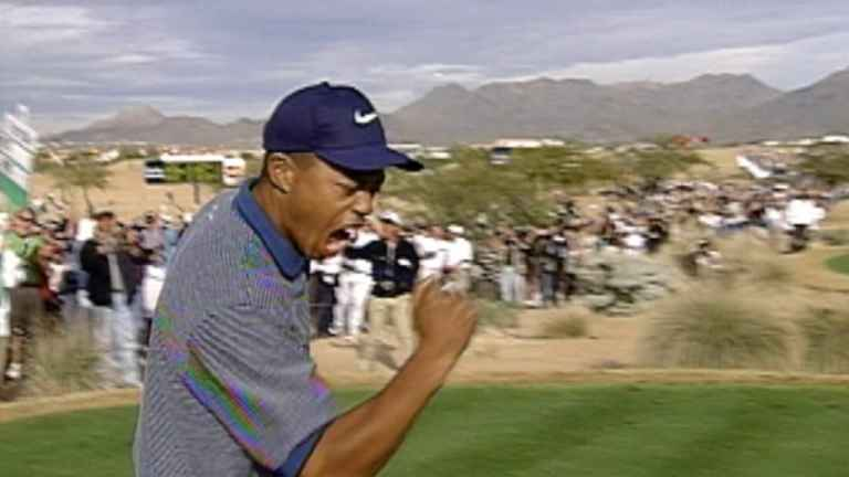 WATCH: Tiger Woods' most epic hole-in-one at the 1997 Phoenix Open
