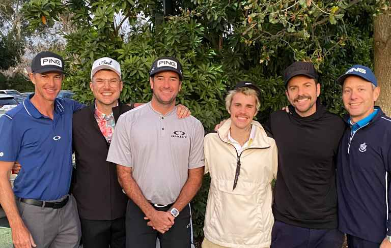 Bubba Watson plays round with Justin Bieber after missing Genesis cut