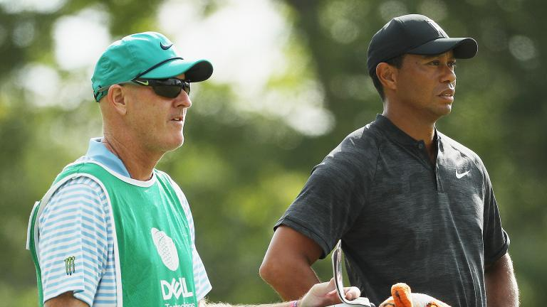 Tiger Woods' round at Dell Tech opens with head cover gaffe!