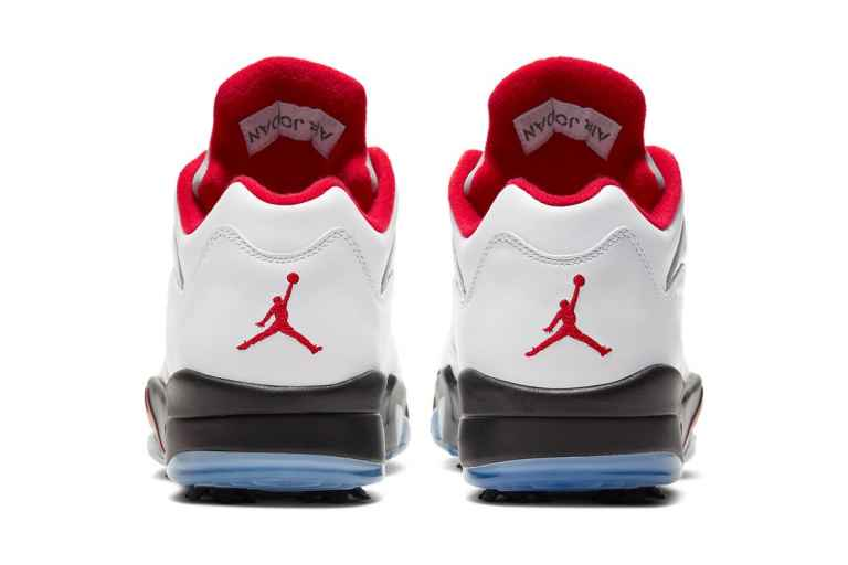 Nike Air Jordan 5 Low Golf Fire Red shoe is out on Friday