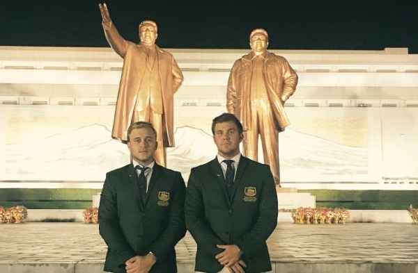WATCH: Australian duo prank their way into North Korean Championship!