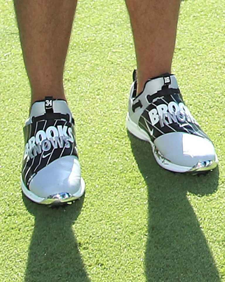 Brooks Koepka and Bo Jackson wear custom Nike shoes at BMW Pro-Am