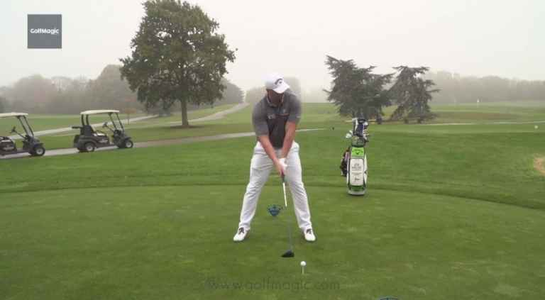 How to hit longer drives - body position