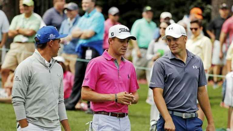 WATCH: Justin Thomas, Rickie Fowler and Jordan Spieth hit left handed