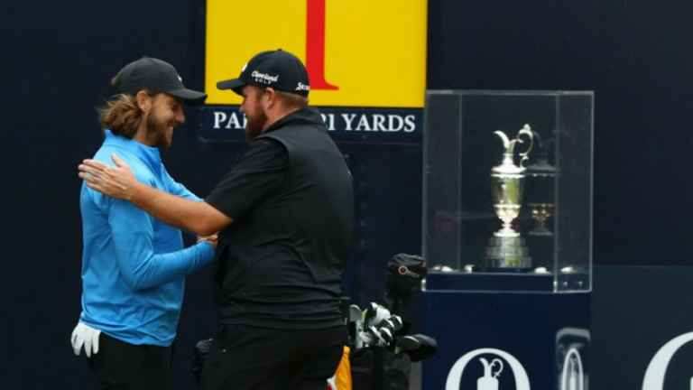 Shane Lowry and Tommy Fleetwood at the Open