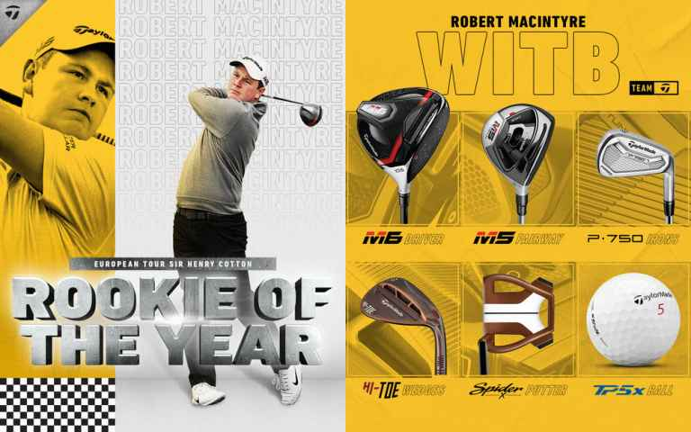 Robert MacIntrye crowned European Tour Rookie of the Year