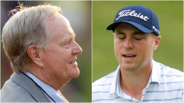 """Jack Nicklaus has an """"oops"""" moment on text with Justin Thomas"""