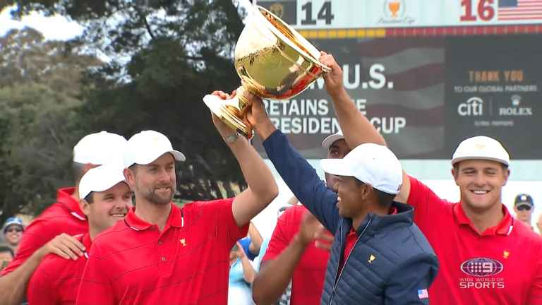 Tiger Woods leads United States to victory at Presidents Cup