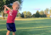 Little kid attempts epic John Daly drive, ends up on the floor!