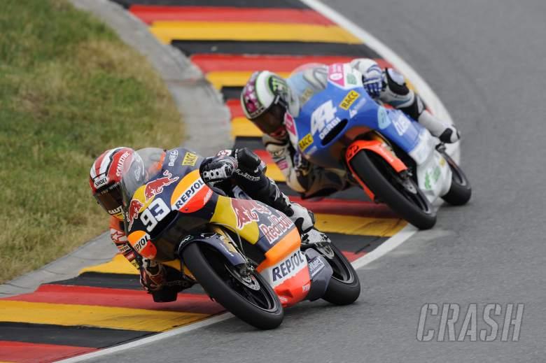 Marquez and Espargaro, Sachsenring 2010