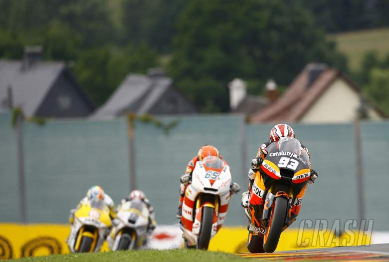 Marquez and Bradl, Sachsenring 2011