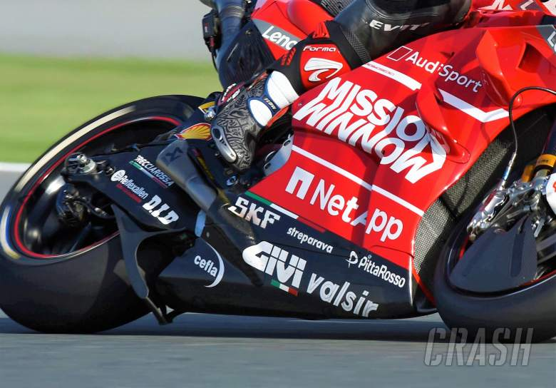 MotoGP: Aprilia: A wing creates downforce...