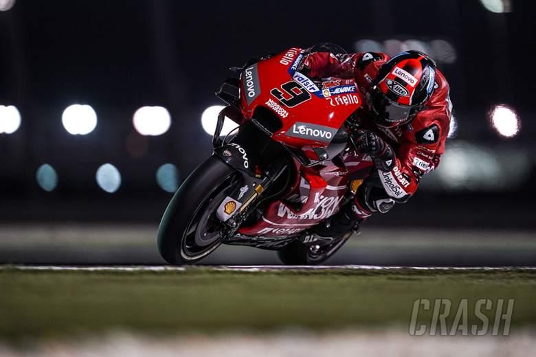 MotoGP: Petrucci leads FP4 among multiple fallers