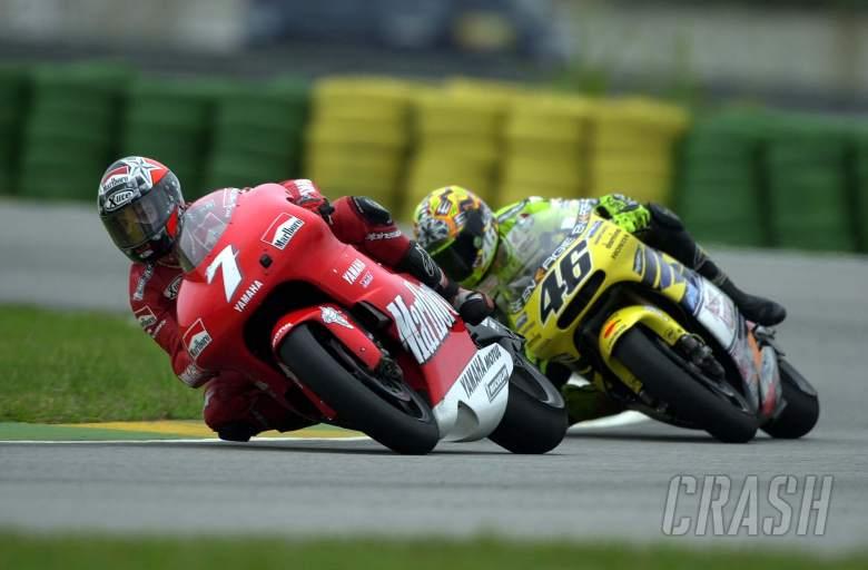 Valentino Rossi, Carlos Checa, 2001 Rio MotoGP, Brazil, MotoGP,