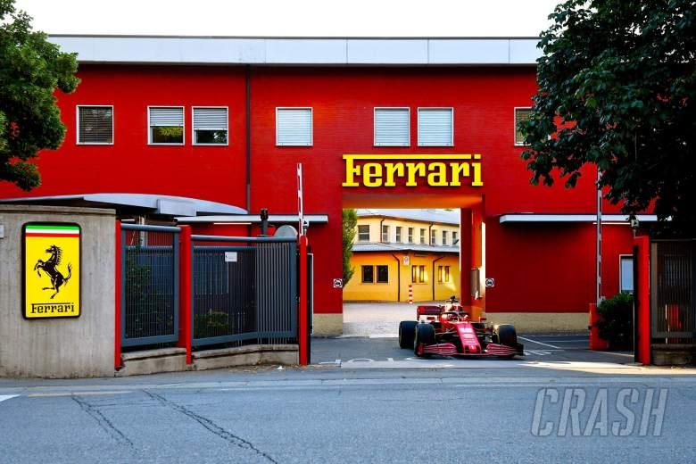 Leclerc drives 2020 F1 Ferrari through Maranello