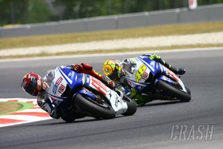 Jorge Lorenzo, Valentino Rossi, Yamaha, Catalunya MotoGP, 2009,