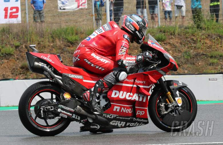 Danilo Petrucci with holeshot device activated