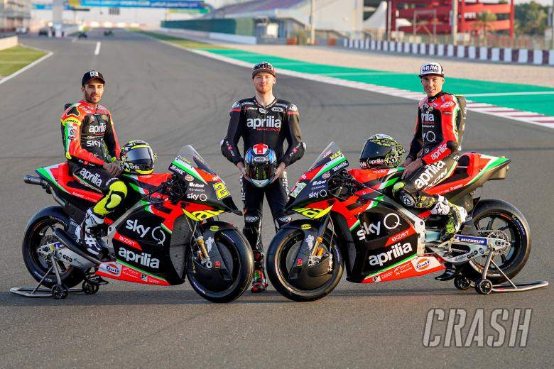 Iannone, Smith and Espargaro present 2020 Aprilia MotoGP colours.