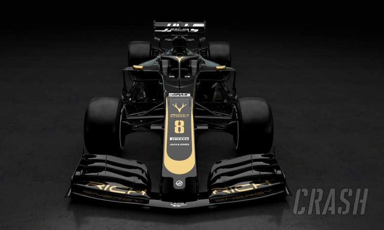 F1: Haas reveals new black and gold F1 livery for 2019