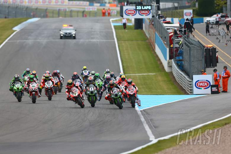 World Superbikes: World Superbike, Donington Park, start,