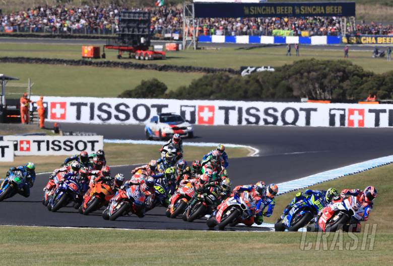 MotoGP, race start, Petrucci, Ducati, Australian MotoGP,