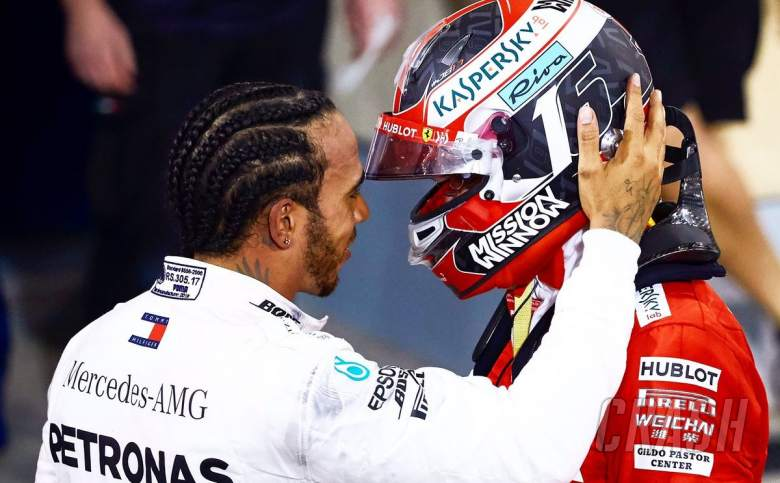"8016948bf3b Lewis Hamilton says Charles Leclerc has ""lots more wins"" to come in F1 after  losing a deserved victory in Bahrain."