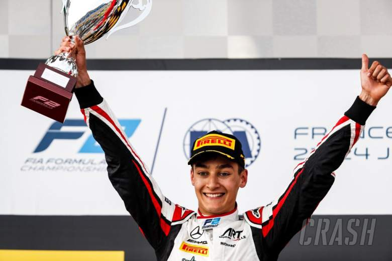 F2: Mercedes F1 junior Russell victorious in wet-dry F2 feature race