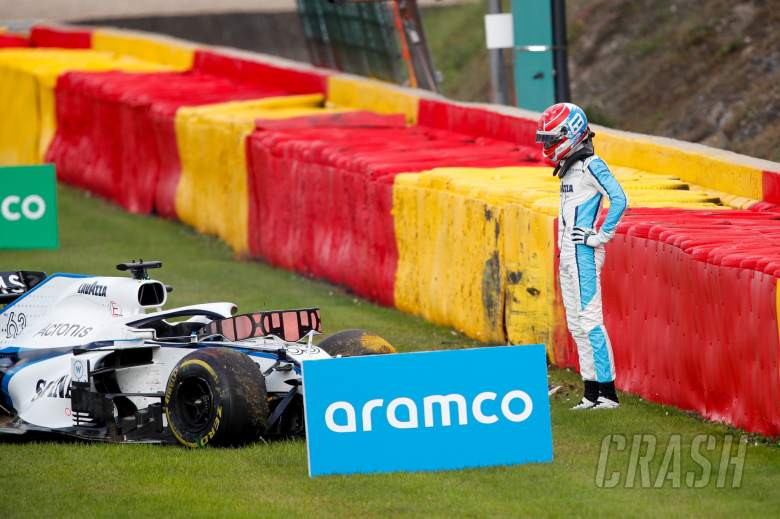 F1's George Russell thankful for halo device in Giovinazzi crash