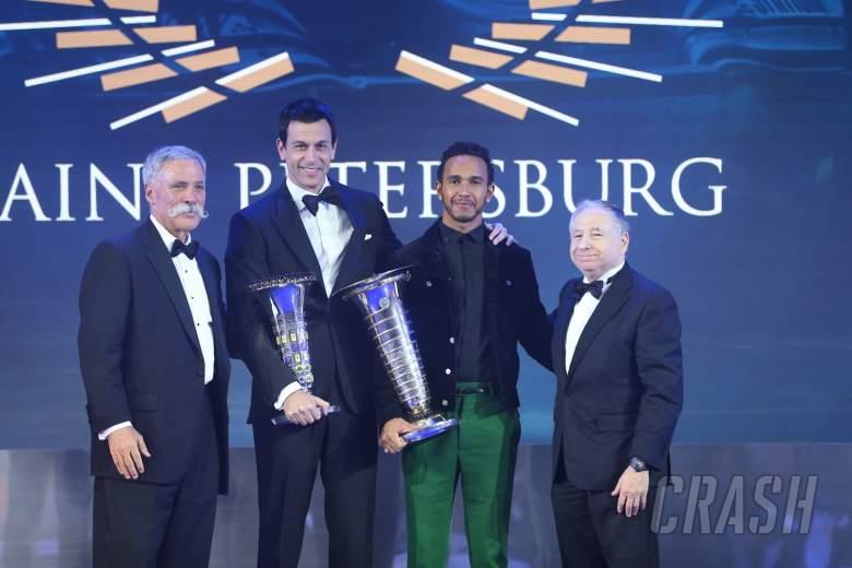F1: Hamilton, Mercedes receive F1 championship trophies