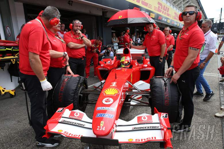 Mick Schumacher enjoys 'amazing' first run in Ferrari F2004