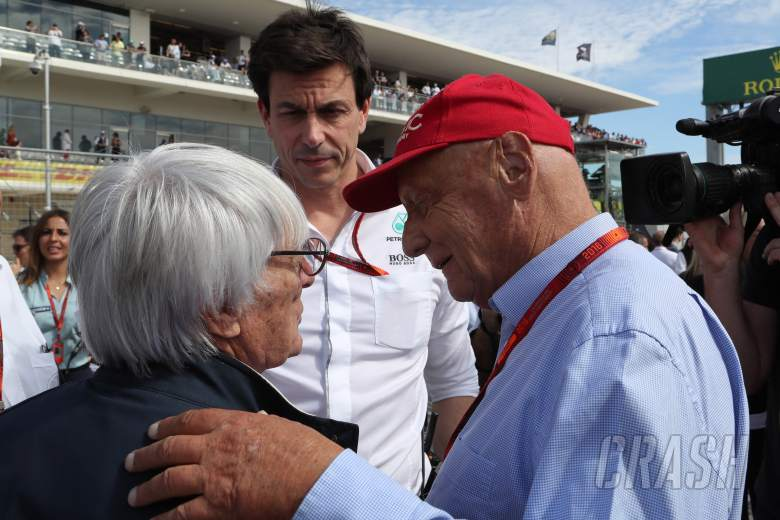 F1: Toto Wolff, Bernie Ecclestone, Niki Lauda,