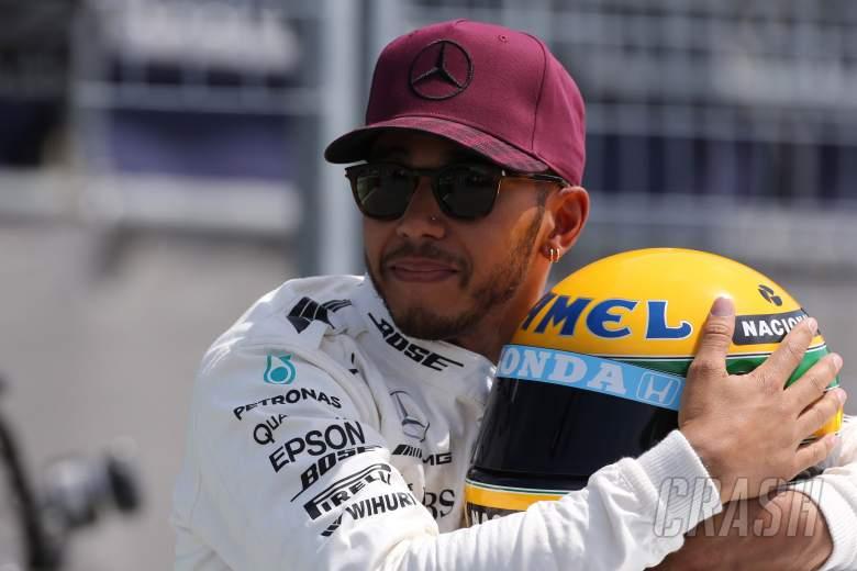 Lewis Hamilton, Ayrton Senna, helmet,
