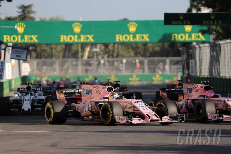 F1: Sergio Perez, Esteban Ocon, Azerbaijan Grand Prix,