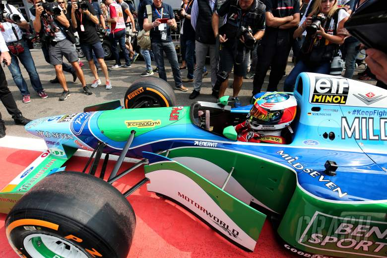 F1: Mick Schumacher completes Spa demo run in father's title-winning Benetton