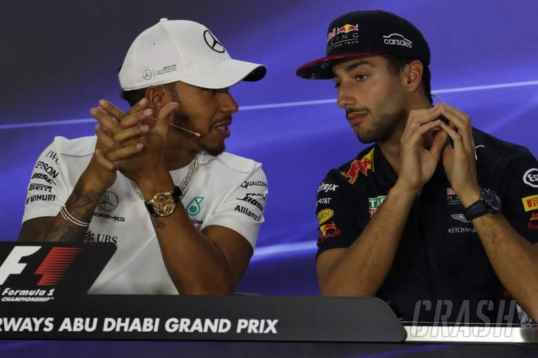 F1: Daniel Ricciardo, Lewis Hamilton,
