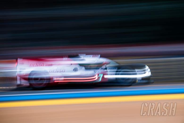 lead toyota survives heavy hit in 1st le mans 24 hours