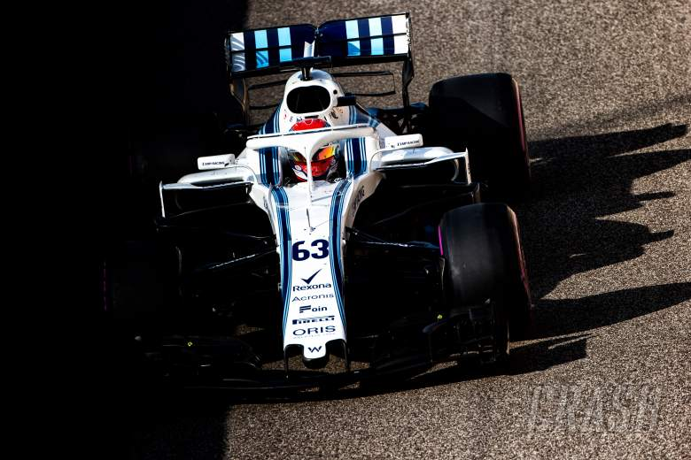 F1: Russell pleased with 'very positive' first Williams F1 test