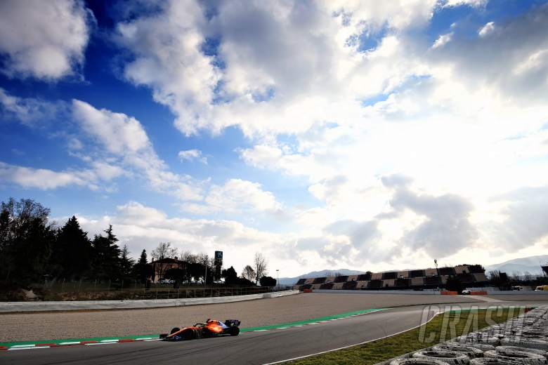 F1: Barcelona F1 Test 1 Times - Tuesday 3pm