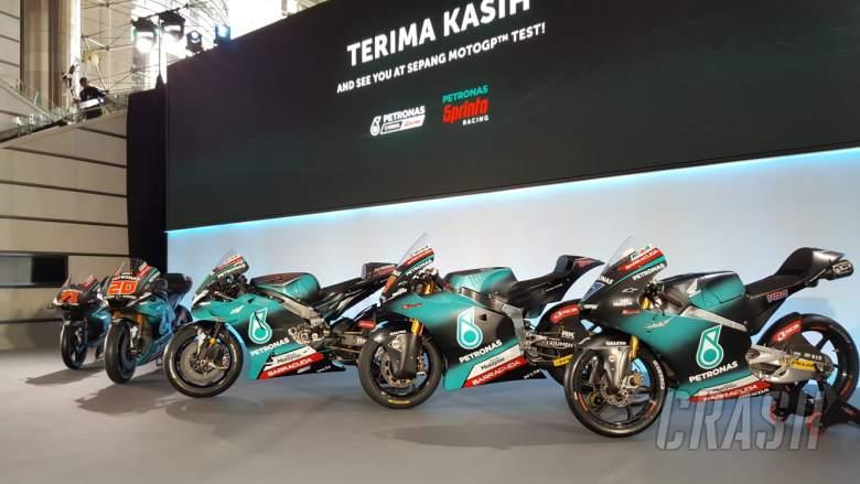 First Look Morbidelli Quartararo Unveil Petronas Yamaha Colours Motogp News