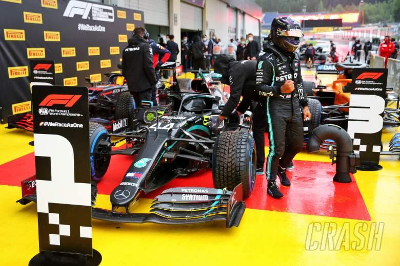 'Heart in mouth' Hamilton splashes to brilliant F1 pole