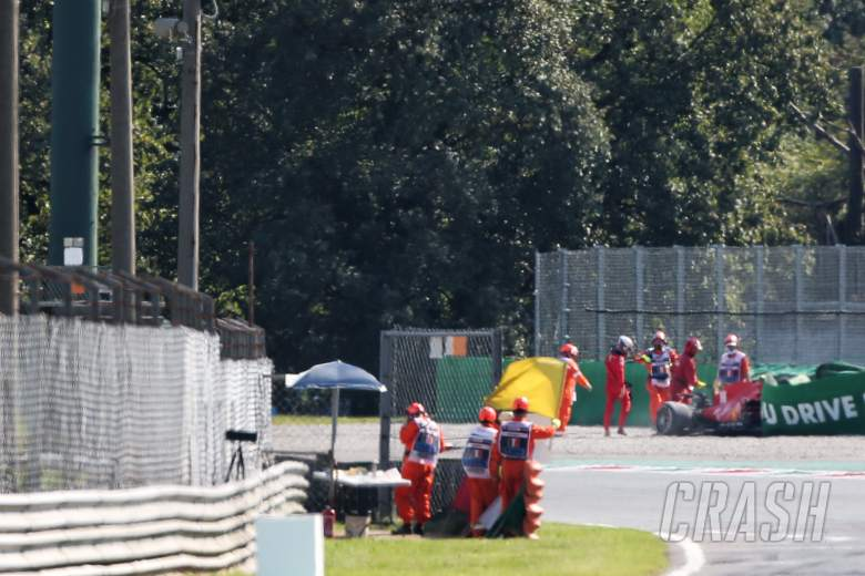 F1 Italian GP red-flagged due to big Leclerc crash