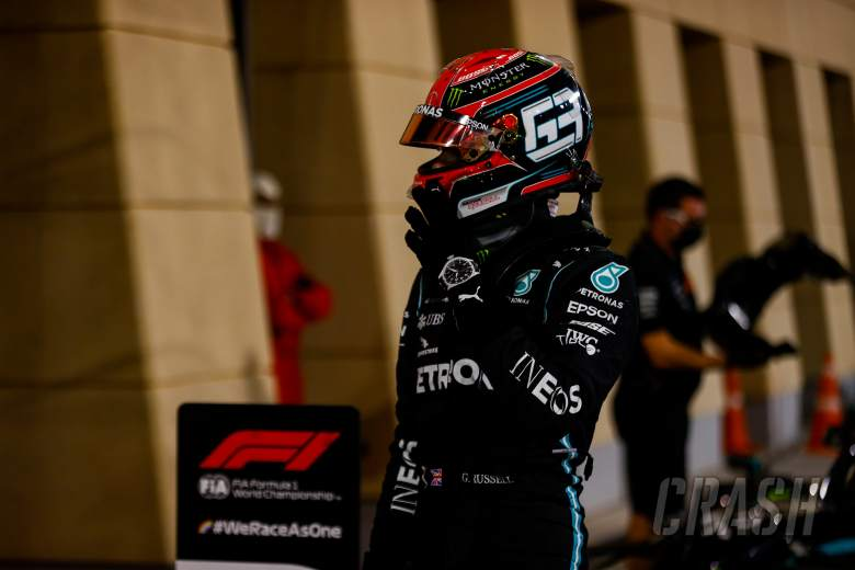 """Russell """"gutted"""" to miss out on F1 pole in """"alien"""" Mercedes car"""