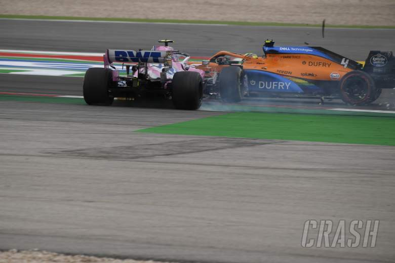 """Norris says Stroll """"doesn't seem to learn"""" after F1 Portuguese GP clash"""